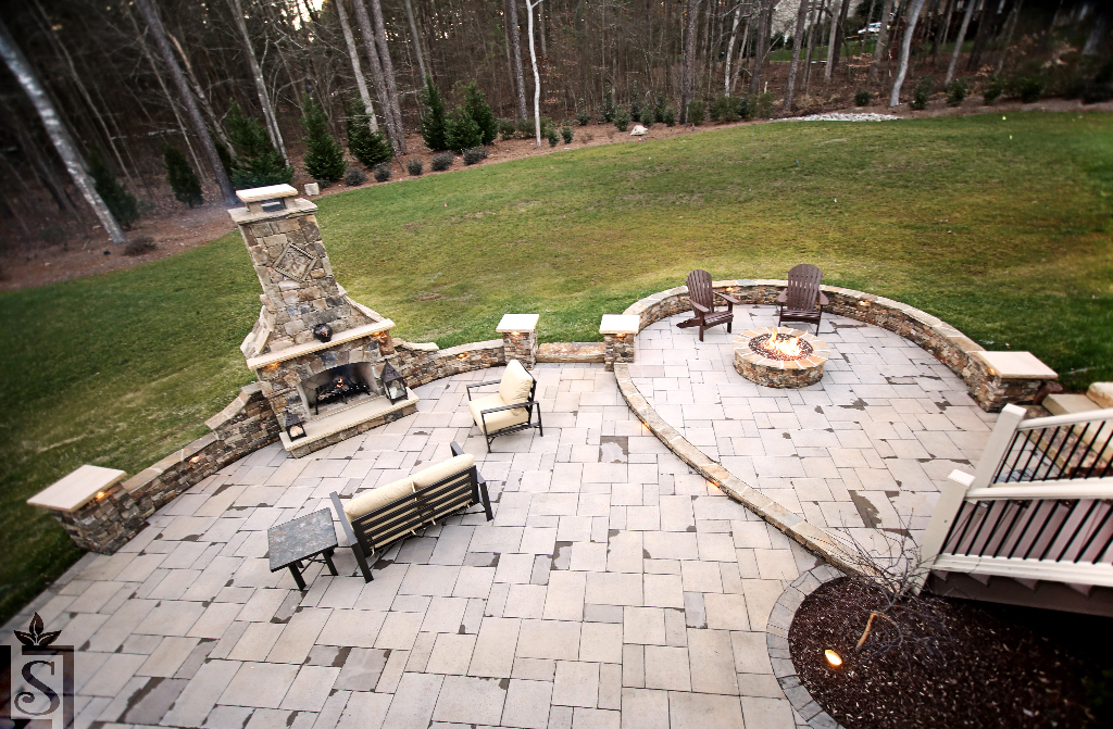 outdoor fireplaces, patios, and fire pits