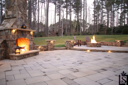 patios and outdoor fireplaces