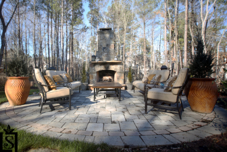 outdoor fireplaces and patios