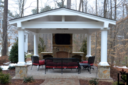Cabanas and outdoor fireplaces
